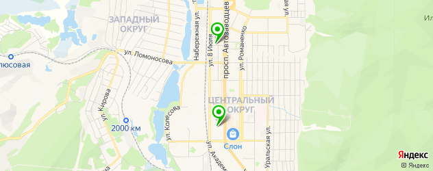 институты на карте Миасса