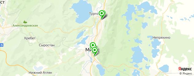химчистки на карте Миасса