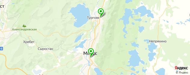 кинотеатры на карте Миасса