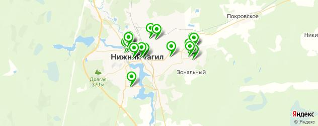 химчистки на карте Нижнего Тагила