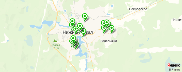 детские развлекательные центры на карте Нижнего Тагила