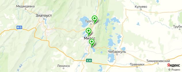 вегетарианские рестораны на карте Миасса