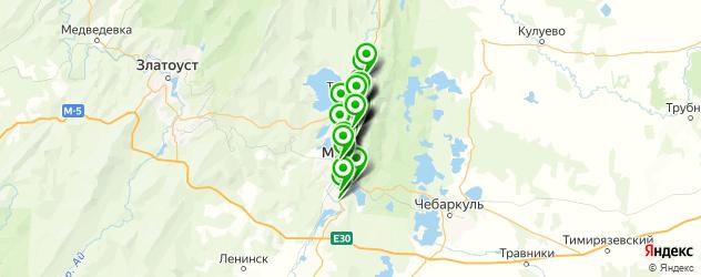 АЗСЫ на карте Миасса