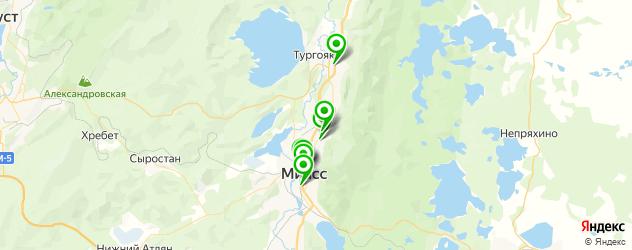 ВУЗы на карте Миасса