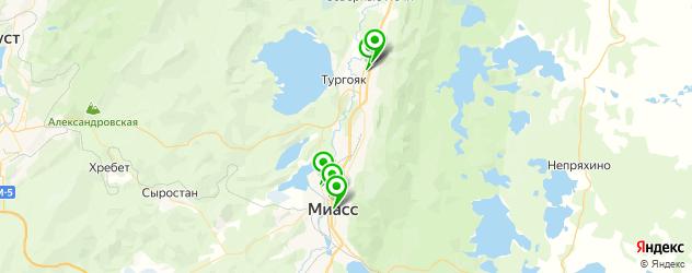 вегетарианские кафе на карте Миасса