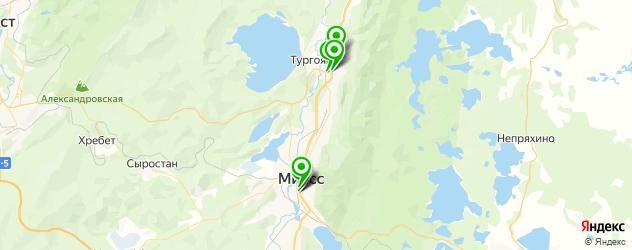 меховые ателье на карте Миасса