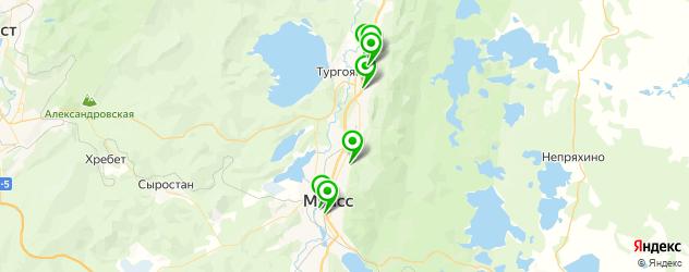 спортивные школы на карте Миасса