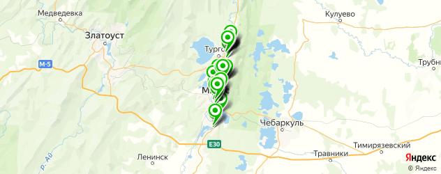 Развлечения на карте Миасса