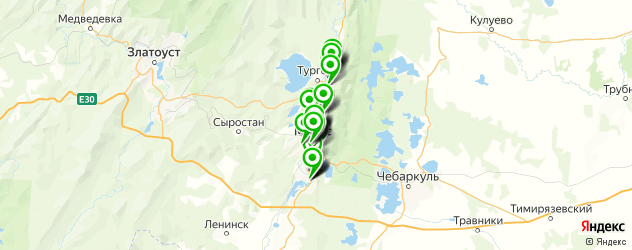 аптеки на карте Миасса