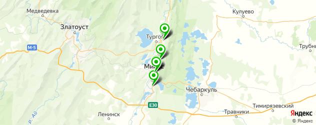 больницы на карте Миасса