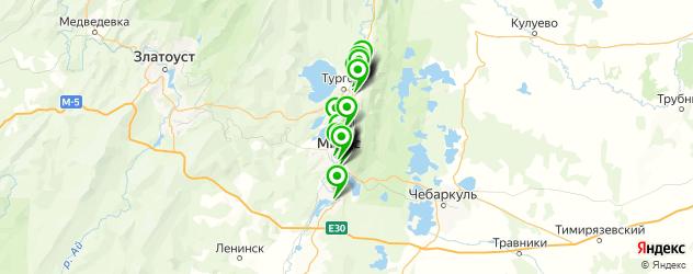 стоматологические клиники на карте Миасса