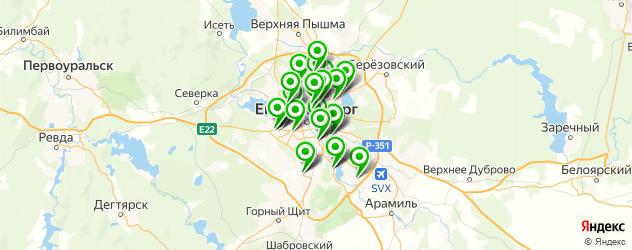 замена масла в двигателе на карте Екатеринбурга