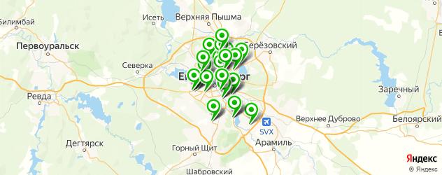 техобслуживание автомобиля на карте Екатеринбурга