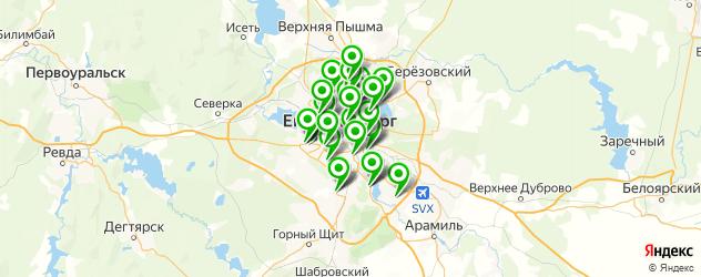 автосервисы на карте Екатеринбурга