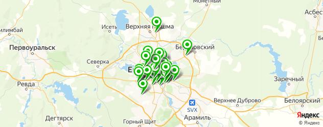 магазины автоаксессуаров на карте Екатеринбурга