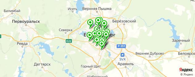 меховые ателье на карте Екатеринбурга