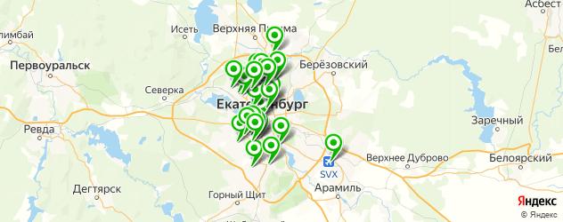 автостоянки на карте Екатеринбурга