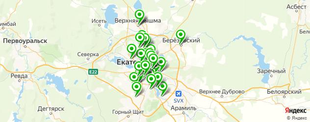спортивные клубы на карте Екатеринбурга