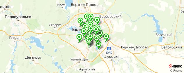 школы на карте Екатеринбурга