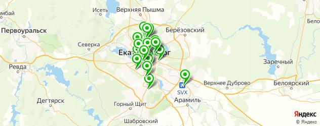 сервисные центры Панасоник на карте Екатеринбурга