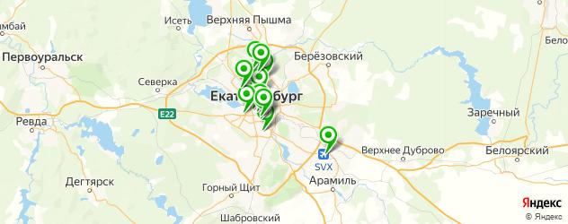 ремонт навигаторов на карте Екатеринбурга