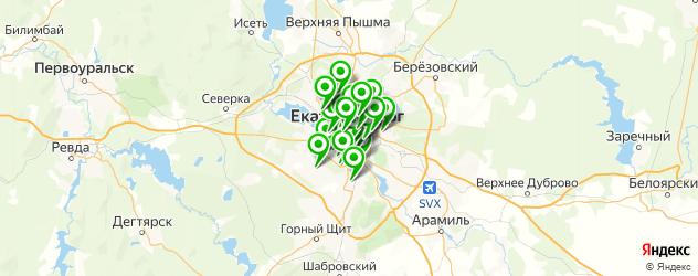 поликлиники на карте Екатеринбурга