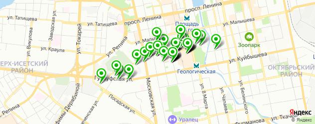 кафе на карте улицы Радищева