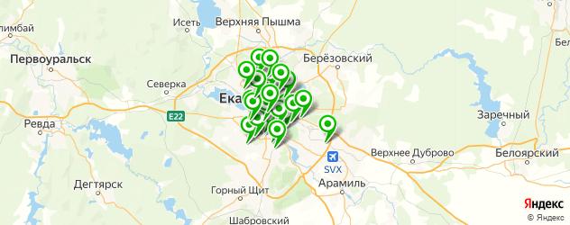 тонировочная пленка на карте Екатеринбурга