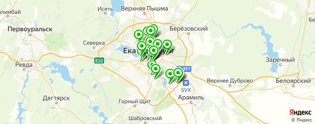 столовые на карте Екатеринбурга