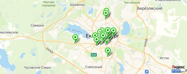 Финансы на карте Екатеринбурга