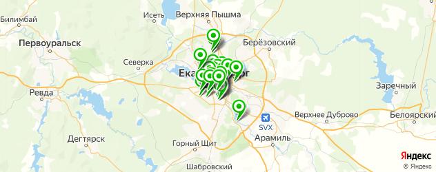 вызов врача на дом на карте Екатеринбурга