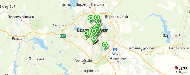 травмпункты на карте Екатеринбурга
