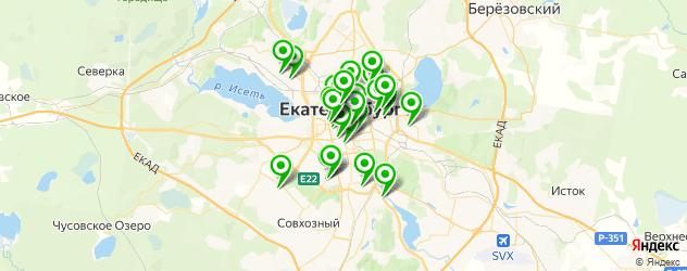 Доставка суши на карте Екатеринбурга