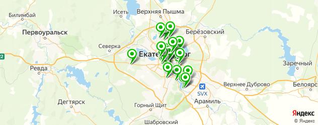 бары с бильярдом на карте Екатеринбурга