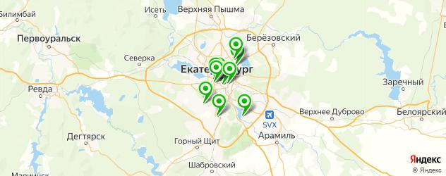 сэндвичи на карте Екатеринбурга