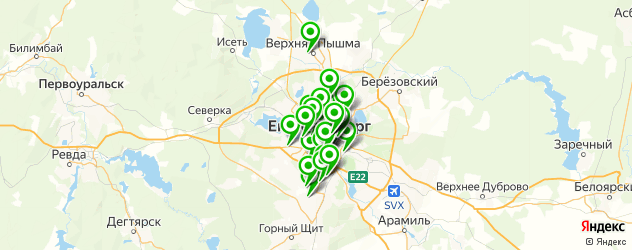 установка автомагнитол на карте Екатеринбурга