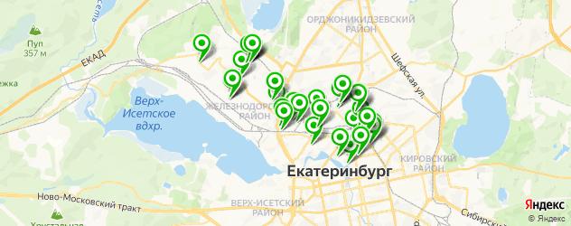 кафе на карте Железнодорожного района