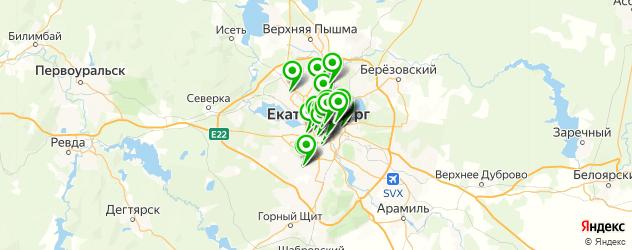 институты на карте Екатеринбурга