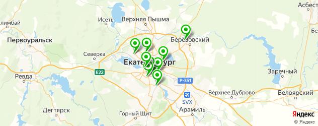 ГИБДДЫ на карте Екатеринбурга