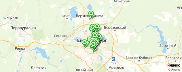 академии на карте Екатеринбурга
