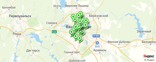 пельмени на карте Екатеринбурга