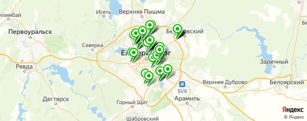 продажа новых автомобилей на карте Екатеринбурга