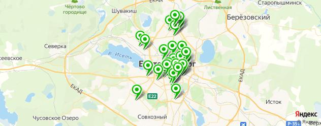 аптеки на карте Екатеринбурга