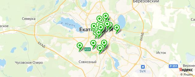 суши на карте Екатеринбурга