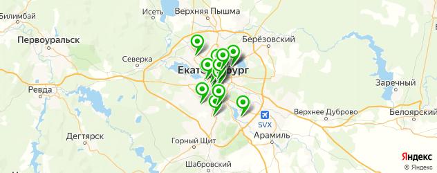 канапе на карте Екатеринбурга