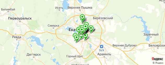 русские рестораны на карте Екатеринбурга