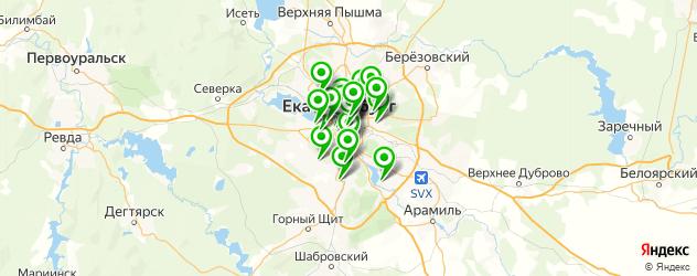 блины на карте Екатеринбурга