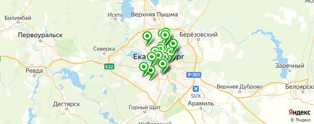 мясо на карте Екатеринбурга