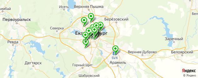 пивные рестораны на карте Екатеринбурга