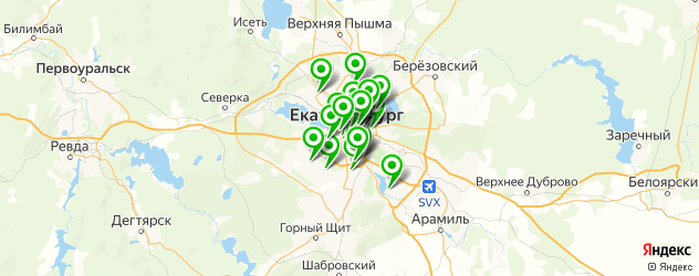 торты на заказ на карте Екатеринбурга